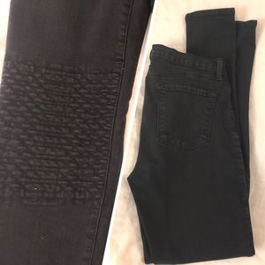 J BRAND quilted-knee jeans